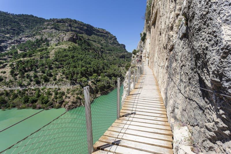 Wanderweg Caminito Del Rey Màlaga-Provinz, Spanien stockfoto