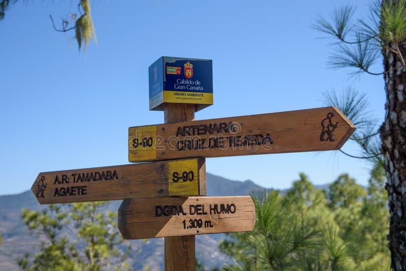 Wanderweg in Tamadaba-Naturpark in Gran Canaria stockbilder