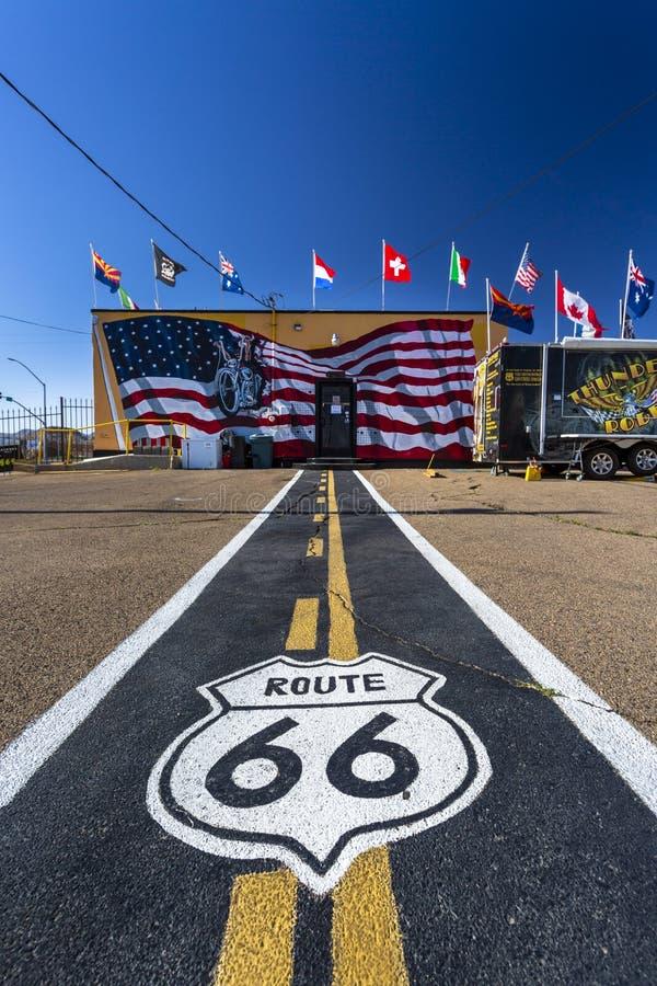 Wandgemälde auf Route 66, Kingman, Arizona, die Vereinigten Staaten von Amerika, Nordamerika stockfotos