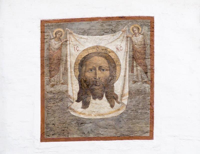 Wandgemälde in der Kathedrale von Christus der Retter, Irkutsk, Russische Föderation stockfoto