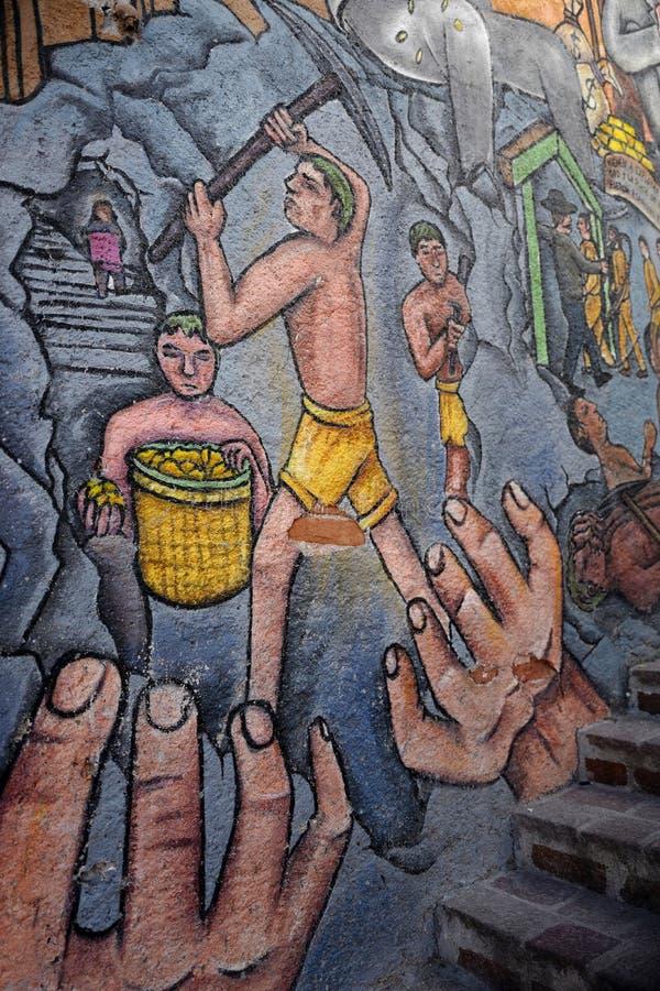 Wandgemälde in Guanajuato-Stadt, Mexiko stockbilder