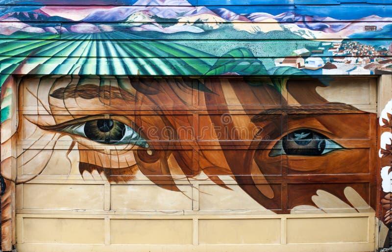 Wandgemälde im Auftrag-Bezirk lizenzfreie stockbilder