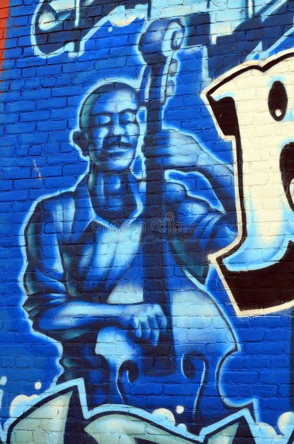 Wandgemälde im Stadtzentrum gelegenes Halifax stockfotos