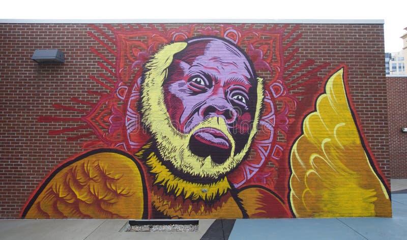 Wandgemälde von Memphis Blues Legend Rufus Thomas auf Beale-Straße lizenzfreie stockbilder