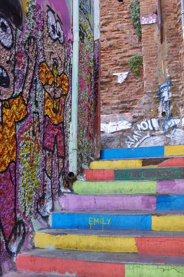 Wandgemälde von Valparaiso lizenzfreies stockfoto
