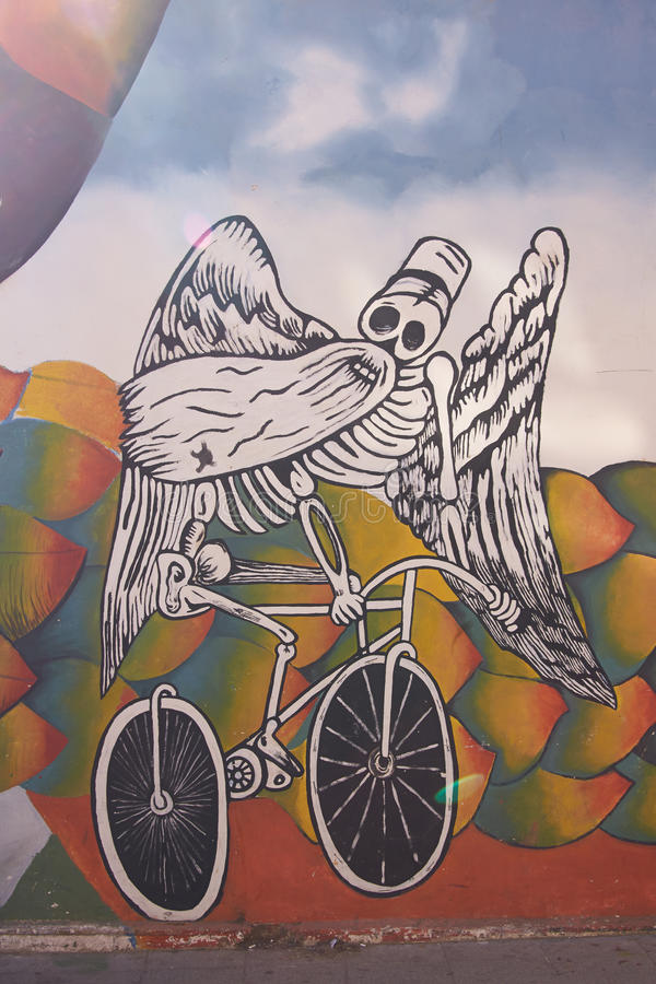 Wandgemälde von Valparaiso lizenzfreies stockbild