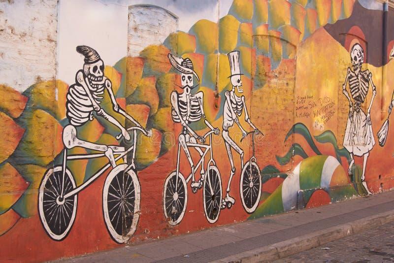 Wandgemälde von Valparaiso stockbild