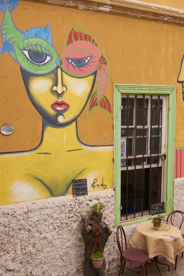 Wandgemälde von Valparaiso stockfotografie