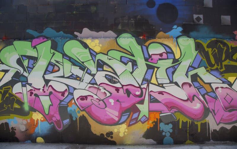 Wandgemälde in Williamsburg-Abschnitt in Brooklyn stockfoto