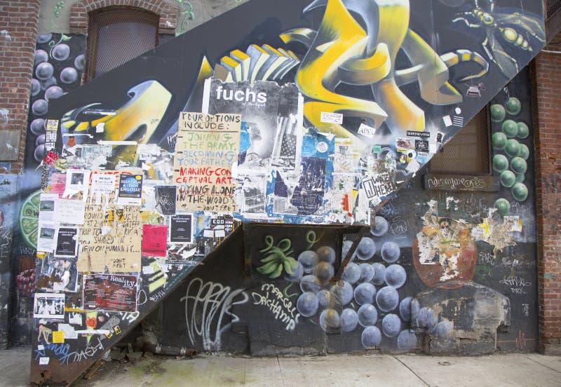 Wandgemälde in Williamsburg-Abschnitt in Brooklyn stockbild