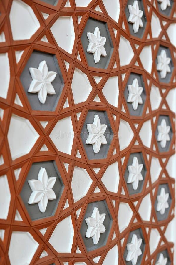 Wandgestaltung innerhalb der Moschee stockfoto