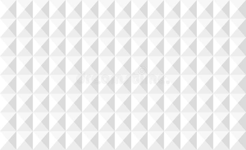Wandmuster des weißen Quadrats Ohne Fliesenbewurf stockbild