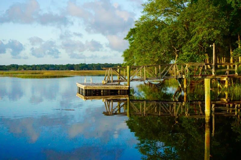 Wando rzeka, SC fotografia royalty free