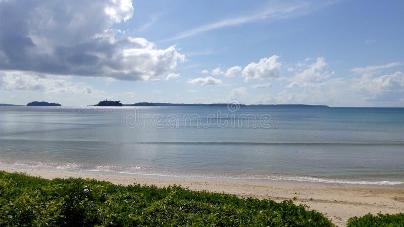 Wandoor-Strand, Port Blair, Indien lizenzfreie stockbilder