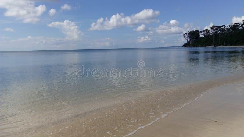Wandoor-Strand, Port Blair, Indien stockbild