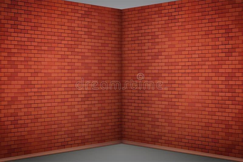 Wandraum des roten Backsteins lizenzfreie abbildung