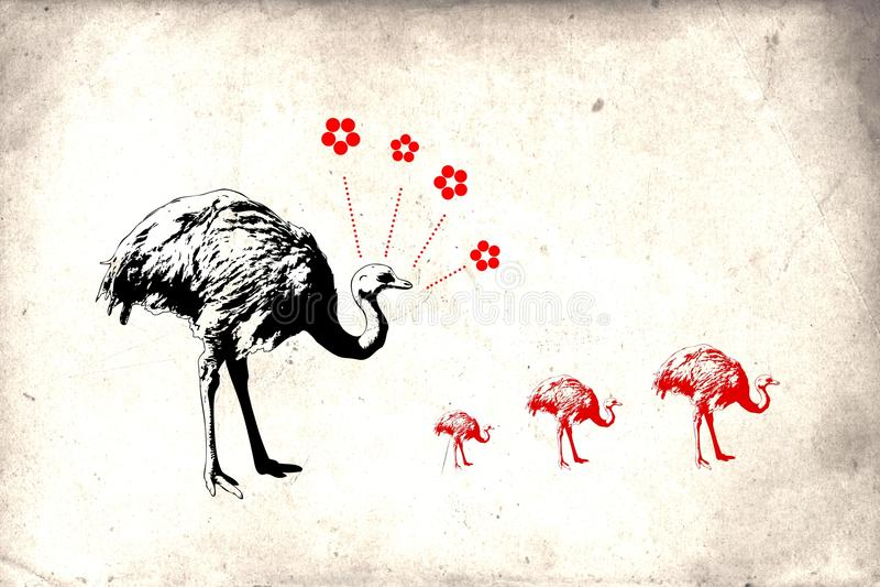 Wandspaßkunstdesign-Ideenwand vektor abbildung