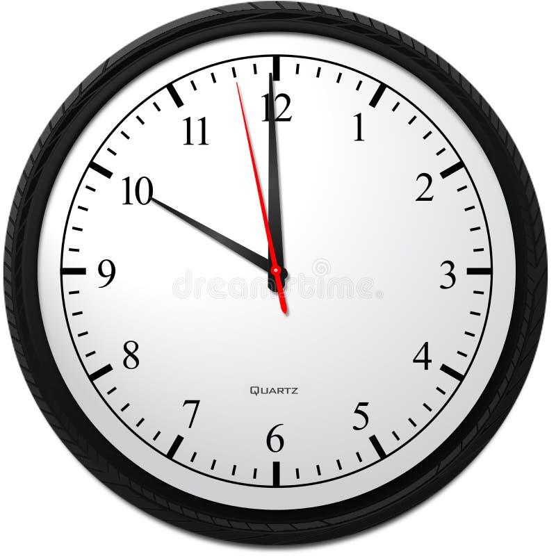 Wanduhr - Zeigen von 10 O-` Uhr lizenzfreie abbildung