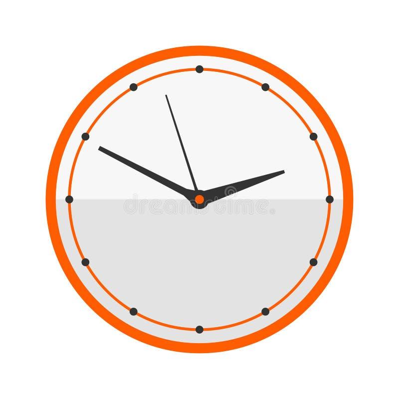 Wanduhrkreiszeichen mit Chronometerzeigerwerkzeug- und Fristenstoppuhrgeschwindigkeitsbürowarnungstimer-Minute passen Vektor auf stock abbildung