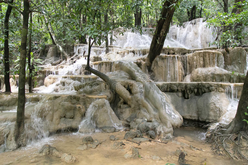 Wang-Sai-Thong Water Fall at Satun, Thailand. Is the most beautiful Water Fall of Satun royalty free stock images