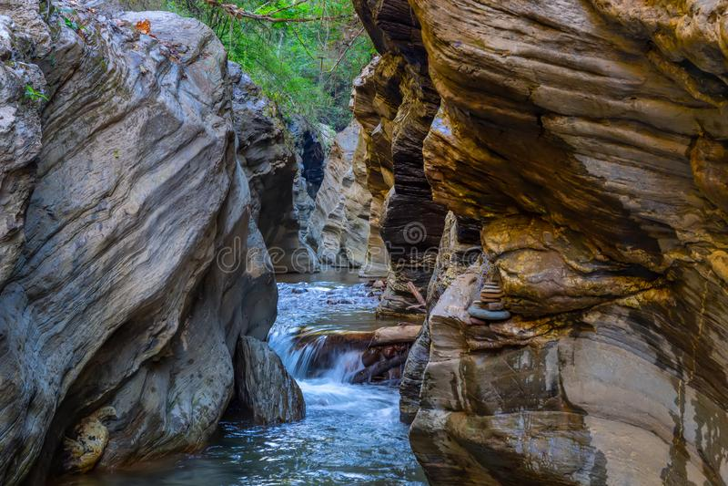 Wang Sila Lang Grand Canyon, Pua District, Nan in Tailandia immagini stock