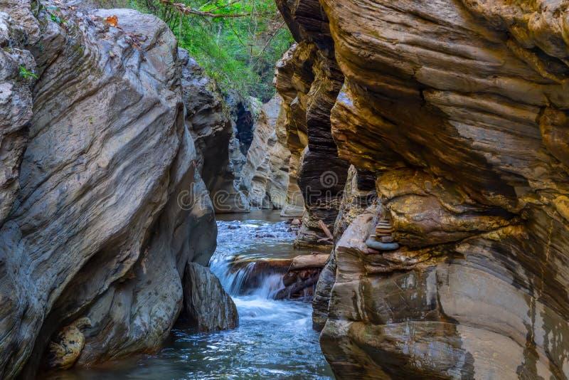 Wang Sila Lang Grand Canyon, Pua District, Nan in Thailand stock images