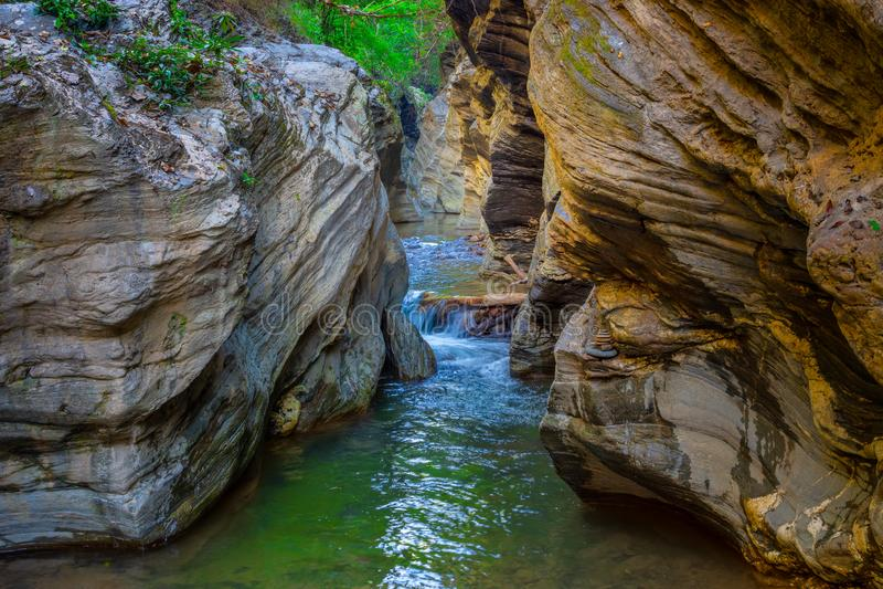 Wang Sila Lang Grand Canyon, Pua District, Nan in Thailand lizenzfreies stockbild