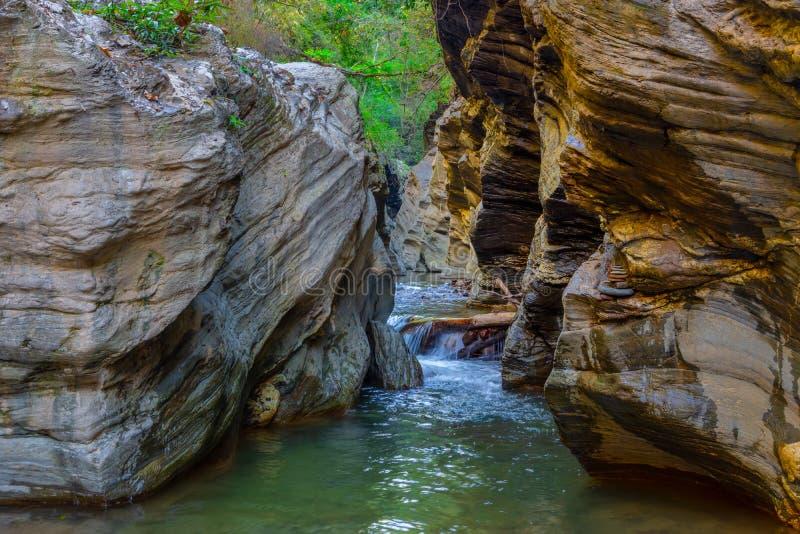 Wang Sila Lang Grand Canyon, Pua District, Nan in Thailand stockbild