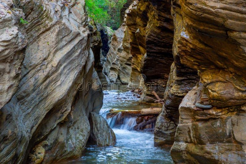 Wang Sila Lang Grand Canyon, Pua District, Nan in Thailand stockbilder