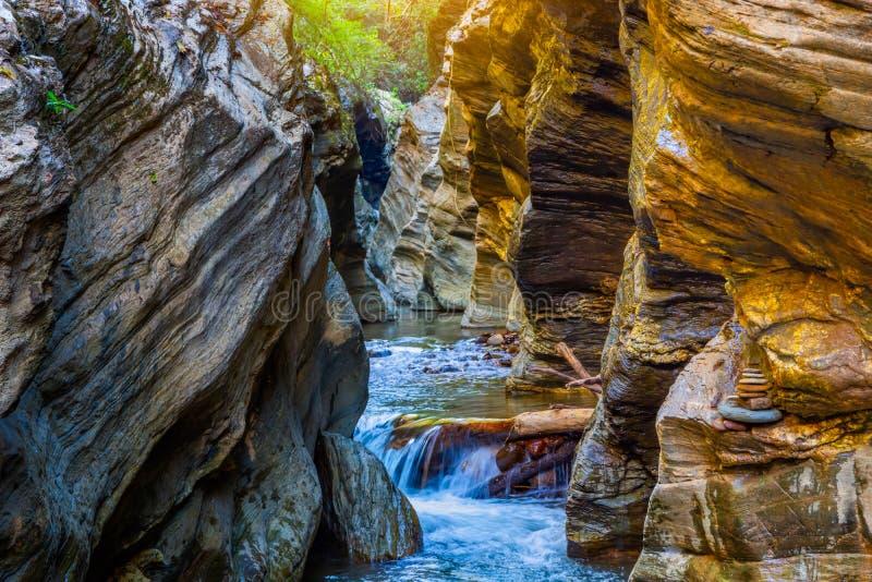 Wang Sila Lang Grand Canyon, Pua District, Nan in Thailand stockfoto