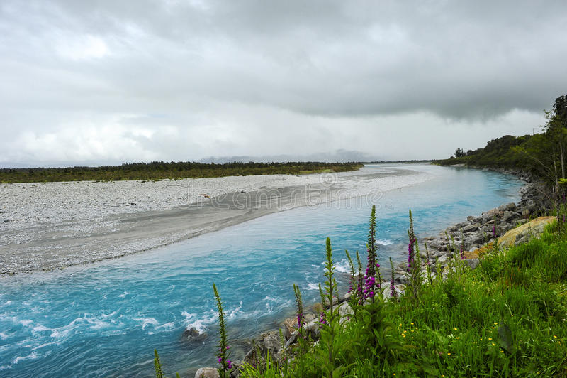 Wanganui rzeka Nowa Zelandia fotografia royalty free