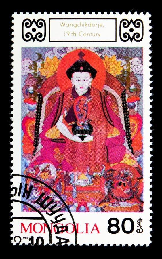 Wangchikdorje,佛教神18第20分 绘画seri 免版税图库摄影