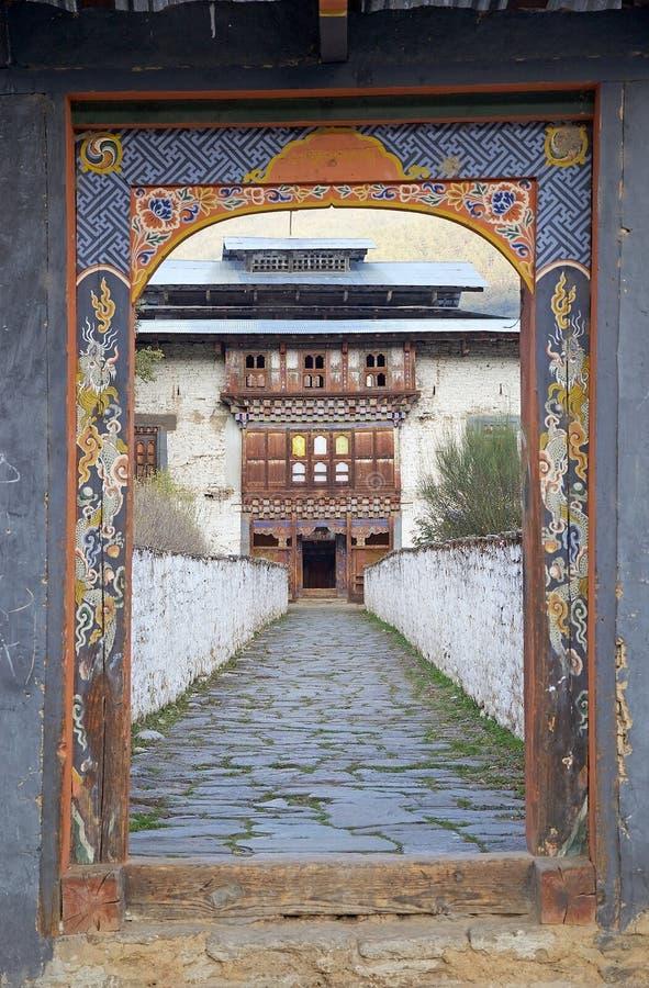 Wangduechhoeling pałac ruiny, Bumthang, Bhutan fotografia stock