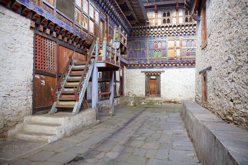 Wangduechhoeling pałac ruiny, Bumthang, Bhutan zdjęcia stock