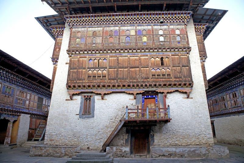 Wangduechhoeling pałac ruiny, Bumthang, Bhutan obraz royalty free