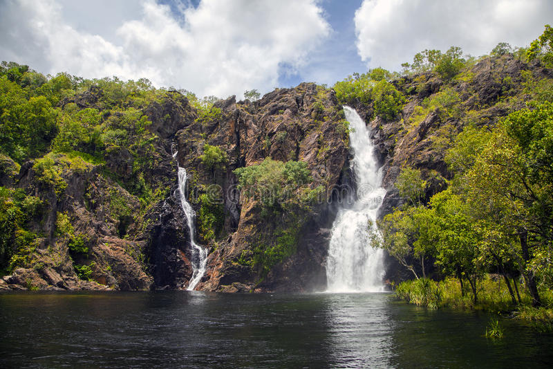 Wangi Falls, Litchfield National Park, Northern Territory, Australia. A view of Wangi Falls in Litchfield National PArk, Northern Territory, Australia royalty free stock photos