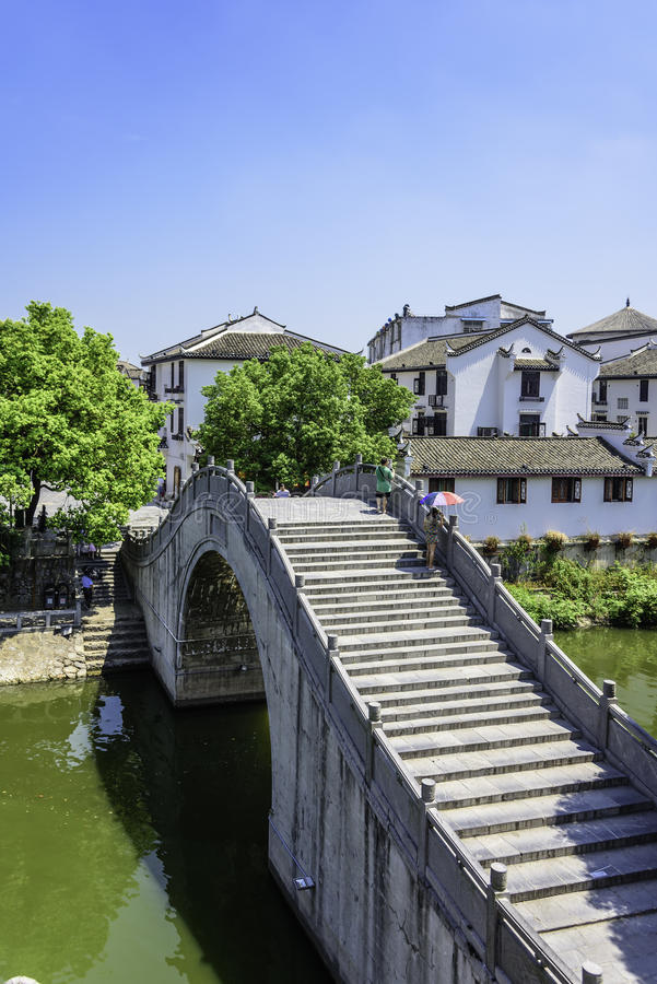 Wangyue Bridge (Moon Bridge) stock photo