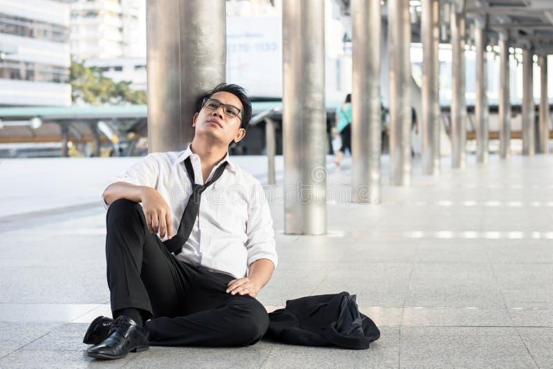 Wanhopige en werkloze mensen, Economische recessieconcept, frus royalty-vrije stock foto's