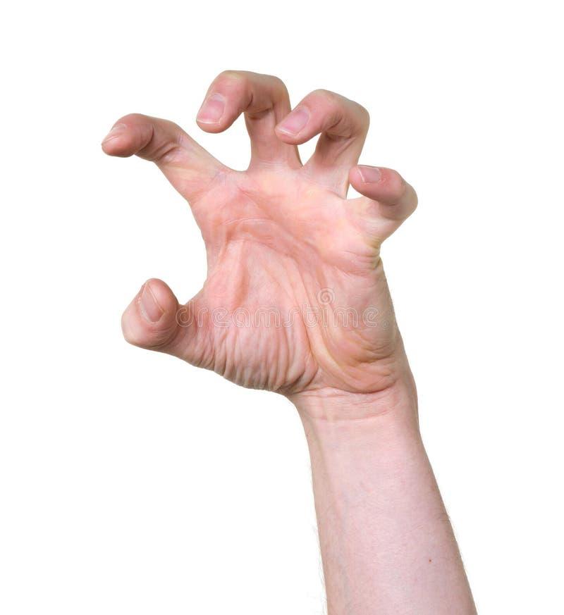 Wanhopige hand stock afbeeldingen