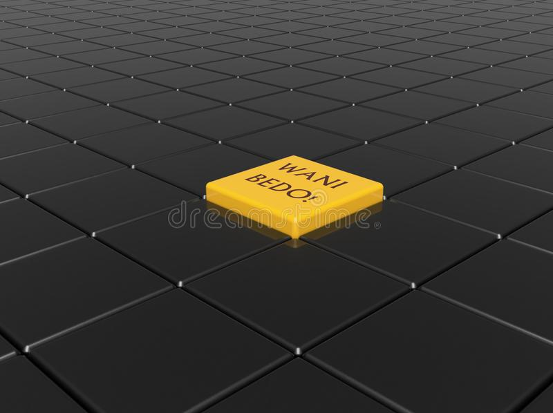 Wani Bedo 3D Walpaper. Its a 3D walpaper with  teks `Wani Bedo` its mean you must out of comfort zone royalty free stock image