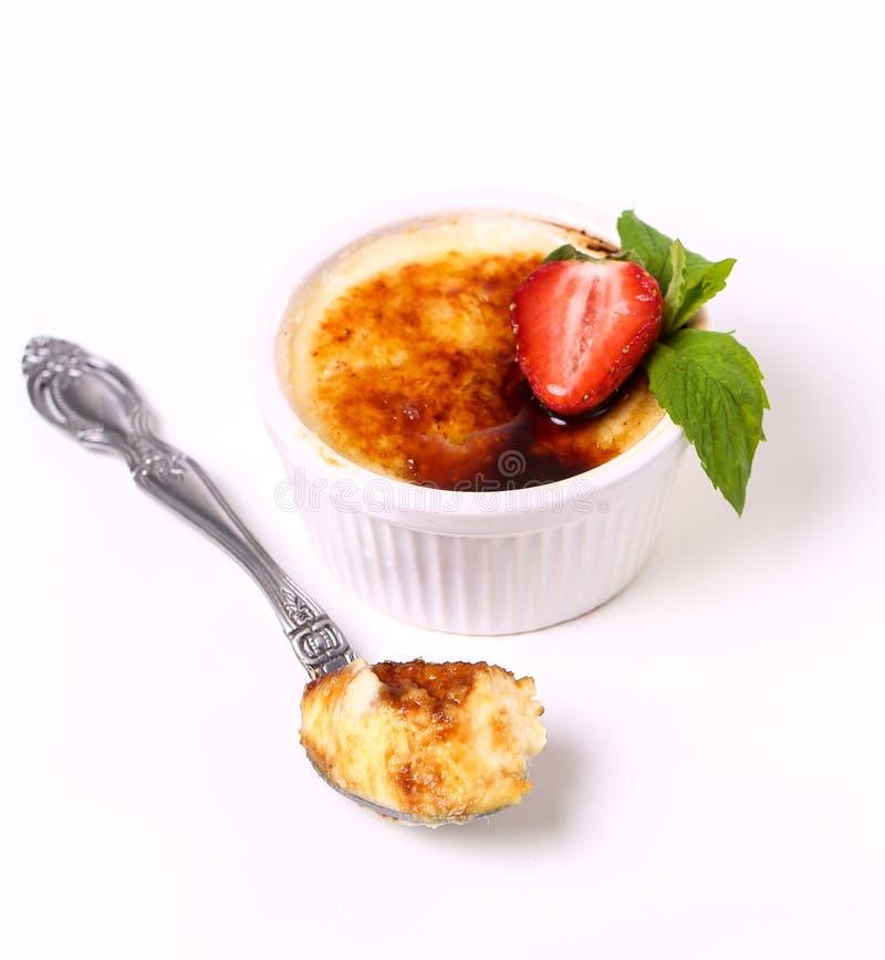wanilia karmelizująca kremowego creme deserowego francuza cukieru odgórna tradycyjna wanilia obraz stock