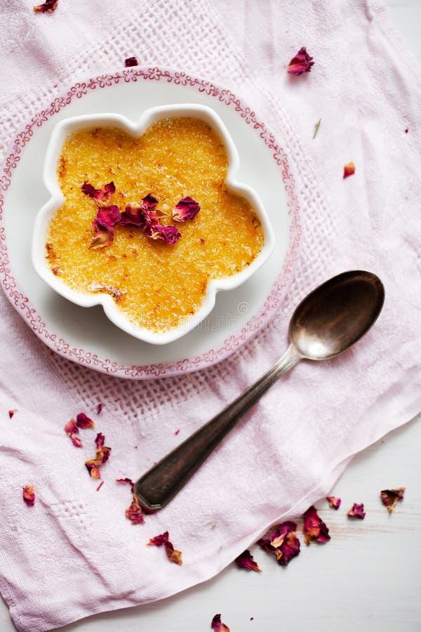 wanilia karmelizująca kremowego creme deserowego francuza cukieru odgórna tradycyjna wanilia zdjęcia royalty free