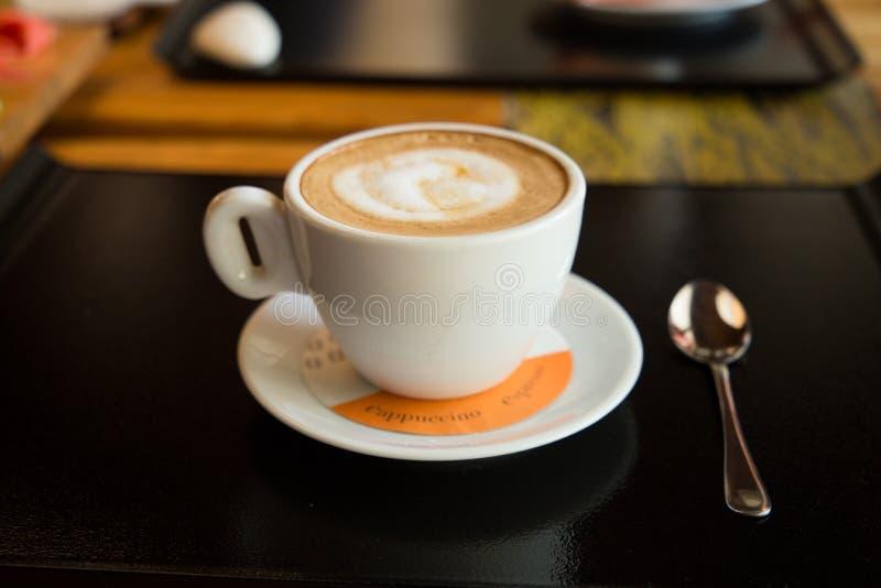Waniliowy cappuccino zdjęcia royalty free