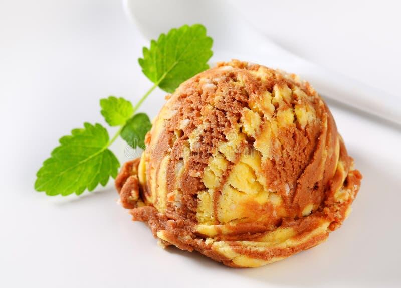 Waniliowy czekoladowy lody fotografia royalty free