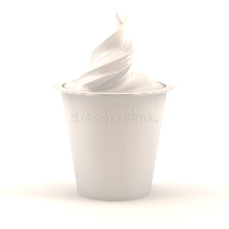 waniliowy jogurt ilustracji