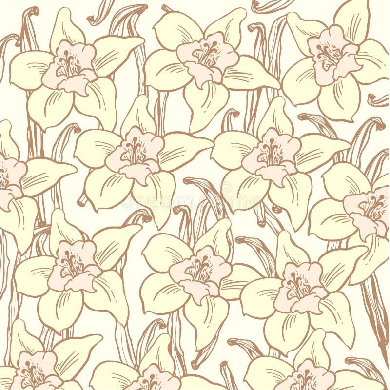 Waniliowy kwiatu wzór obraz royalty free