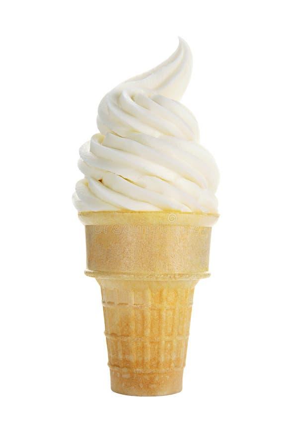 Waniliowy Miękki lody Marznący serw jogurt fotografia stock