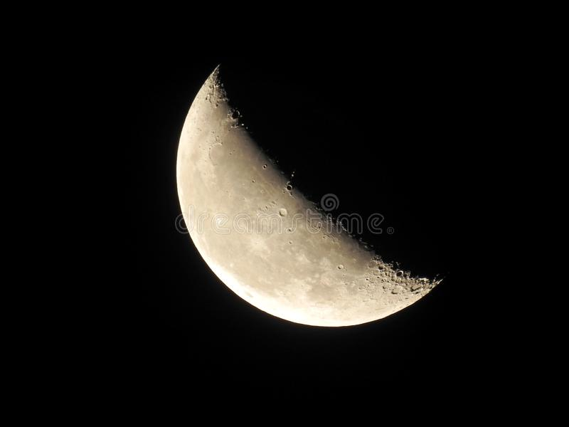 Waning Crescent Moon stock photos