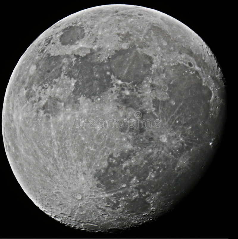 Waning gibbous moon stock photos