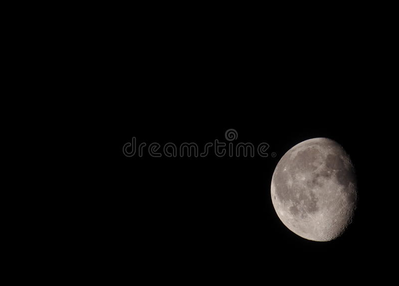 Waning moon stock image